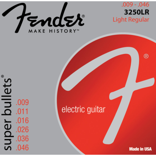 Fender Super Bullets Strings - Light Regular, 009-046