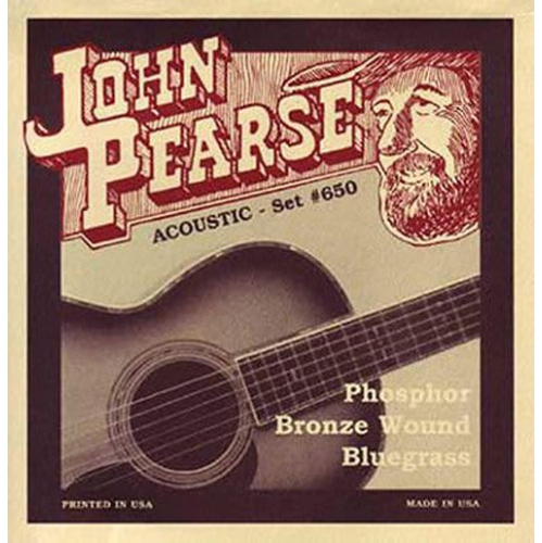 John Pearse 650LM Phosphor Bronze Acoustic Guitar Strings - Bluegrass 12-56