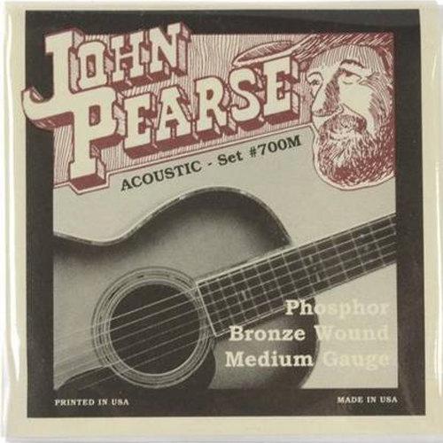 John Pearse 700M Phosphor Bronze Acoustic Guitar Strings - Medium 13-56