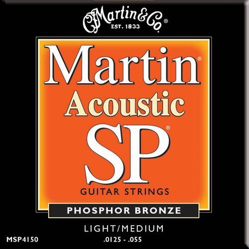 Martin Guitar MSP4150 SP 92/8 Phosphor Bronze Guitar Strings - Light/Medium