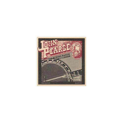 John Pearse 1800M 5-String Banjo Strings - Medium 10-23