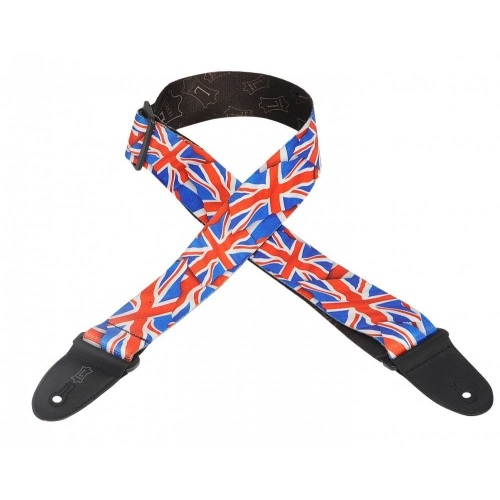 """Levy's MP-29 2"""" Polyester Guitar Strap - Great Britain Flag"""