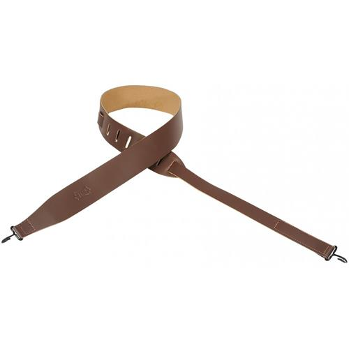 "Levy's MB12 2"" Leather Banjo Strap - Brown"