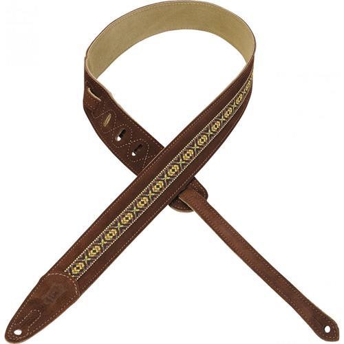 """Suede Guitar Strap - 1 1/2"""", Brown"""