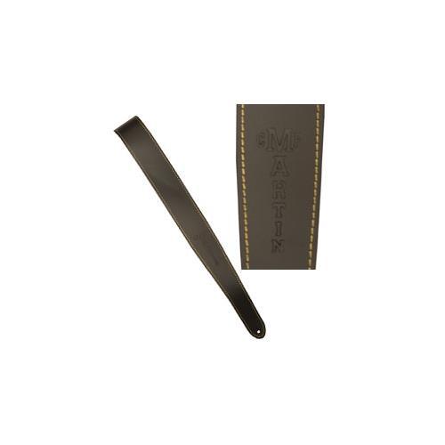 Leather Slim Guitar Strap - Brown