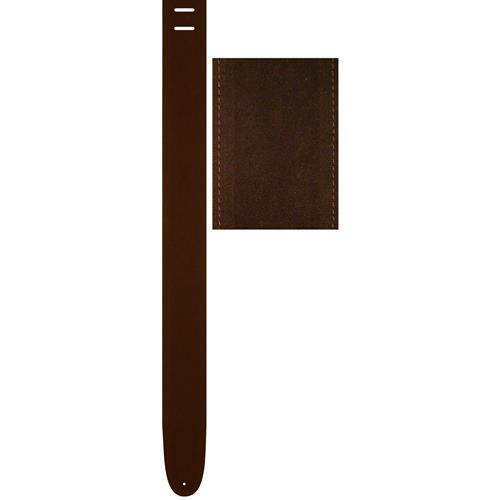 """Perri's Suede Guitar Strap - Brown, 2.5"""""""