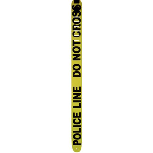 Perri's Leather Guitar Strap - Police Line, Do Not Cross, 2.5""