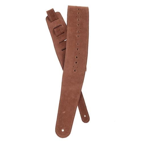 Planet Waves 25PRF05 Vented Leather Guitar Strap - Honey Suede Apache