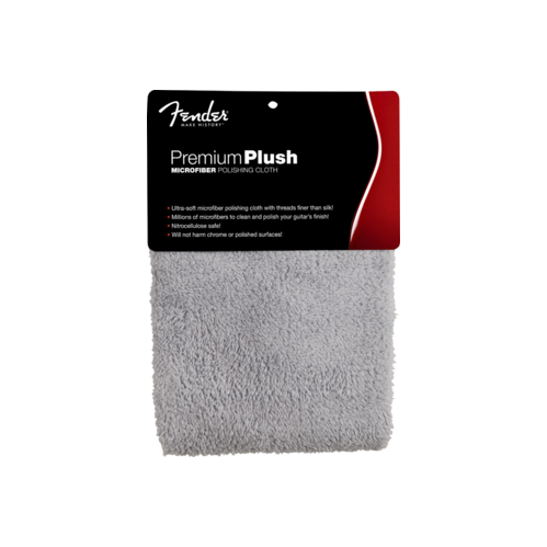 Fender Premium Plush Microfiber Polishing Cloth - Gray