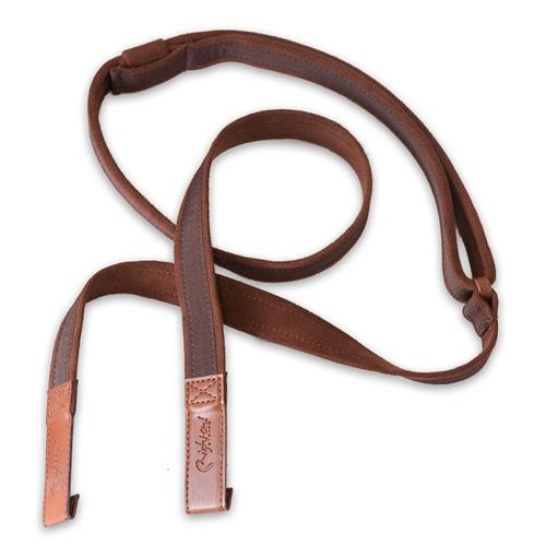 Right On! Classical Dual Hook Guitar Strap - Brown