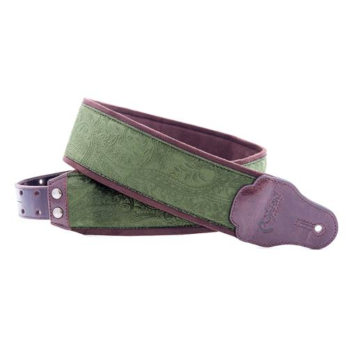 Right On! Jazz Guitar Strap - Cashmere Green