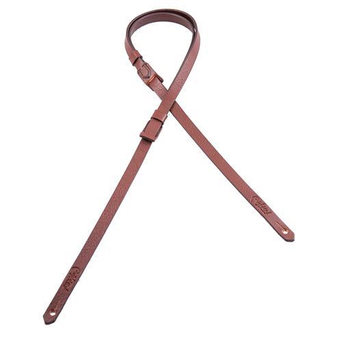 Right On! Uke-Mandoline Strap - Classic Brown