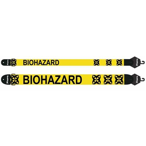 Strap Guitar RockStrap Nylon, Leather Ends - Printed Biohaza