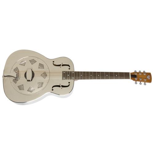 Epiphone Dobro Hound Dog M-14 Metal Body Acoustic Guitar - Nickel