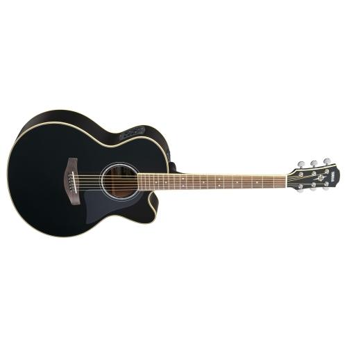 Yamaha CPX700II Medium Jumbo Acoustic Electric Guitar - Black