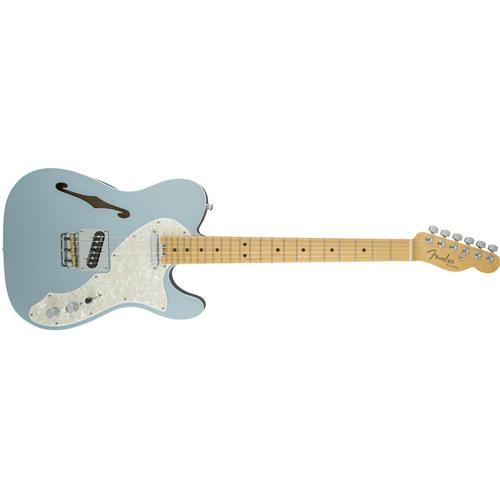 Fender American Elite Telecaster Thinline - Mystic Ice Blue, Maple Fingerboard