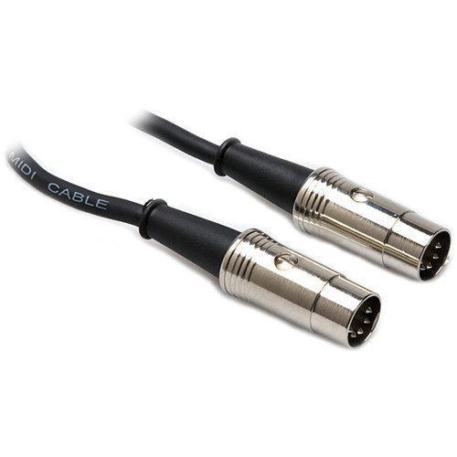 Hosa Pro MIDI Cable - Serviceable 5-Pin DIN to 5-Pin DIN, 10'