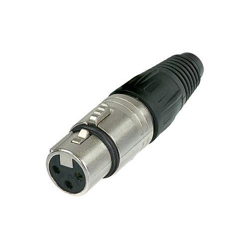 Neutrik NC3FX XLR Cable Connector - 3-Pole Female, Nickel, Silver Contacts