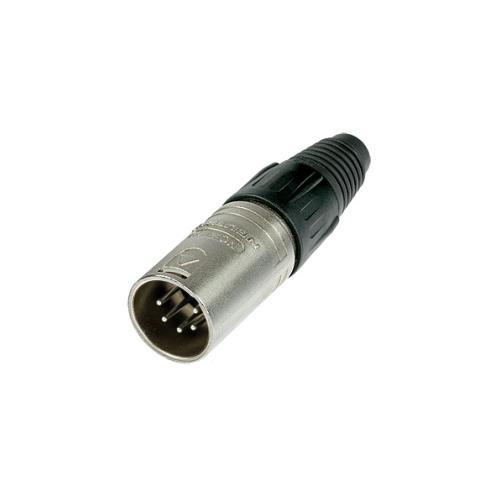 Neutrik NC5MX XLR Cable Connector - 5-Pole Male, Nickel, Silver Contacts