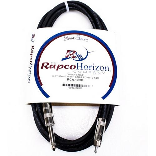 """Rapco RCA-10CP RCA Cable - RCA Male - 1/4"""", 10'"""