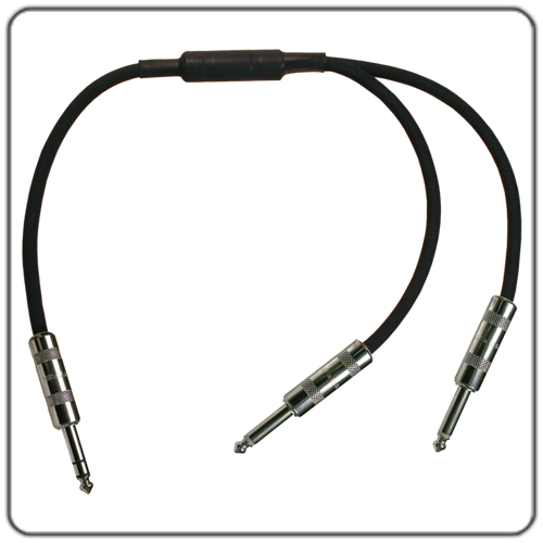 """Rapco Y Cable - 1/4"""" Stereo Male to 1/4"""" Mono Male Cable, 6'"""