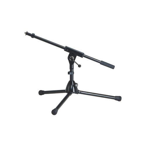 K&M 259/1 Microphone Stand - Low Level Tripod Boom - Black