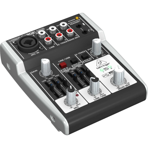 Behringer Premium 5-Input Mixer with XENYX Mic Preamp and USB/Audio Interface