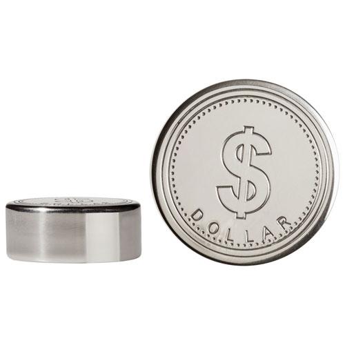 Glaçons en forme de dollar en acier inoxydable de Brilliant avec pinces et sac de rangement
