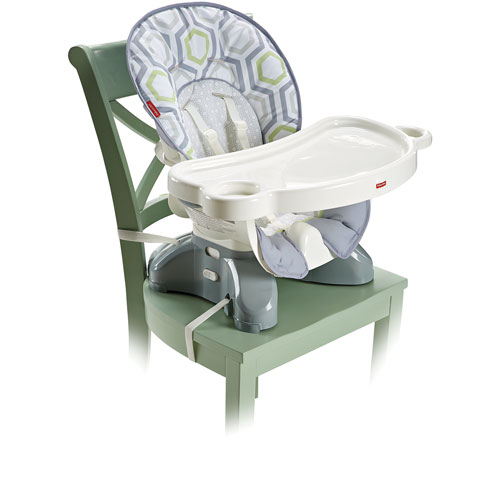 Fisher-Price SpaceSaver High Chair with Tray - Grey