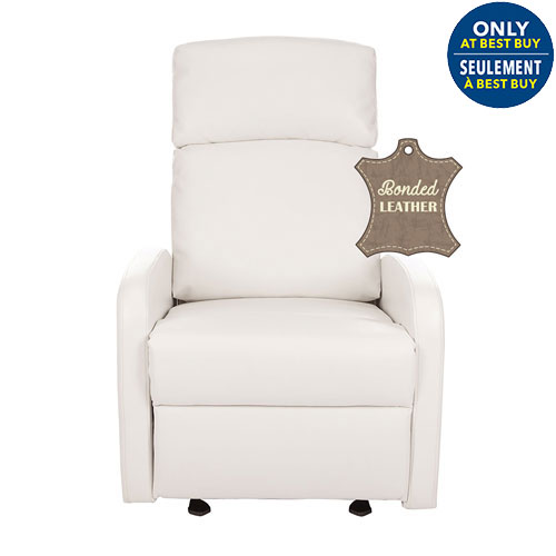 Kidiway Santa Maria Bonded Leather Glider White Only At Best Buy