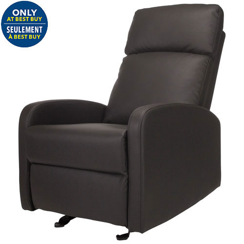 Kidiway Santa Maria Bonded Leather Glider Grey Only At Best Buy