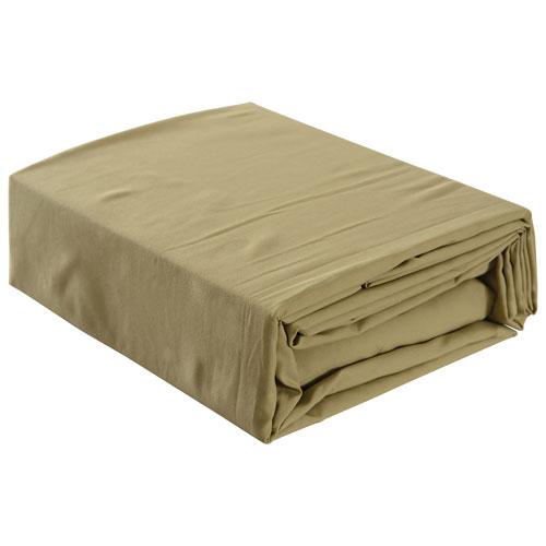 Literie en microfibre de Gouchee Design - Très grand lit - Olive pâle