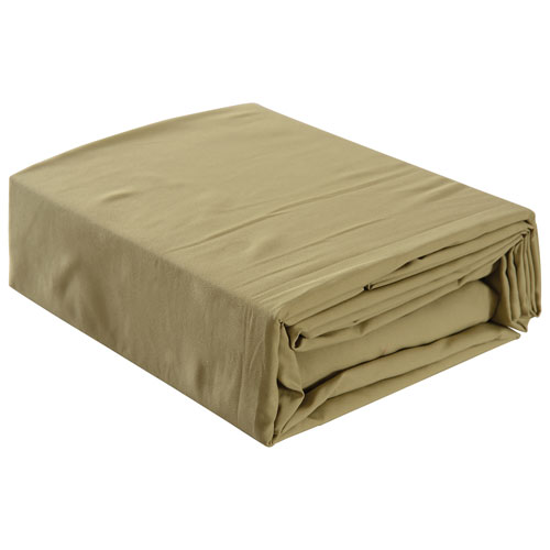 Gouchee Design Microfibre Sheet Set - Queen - Pale Olive