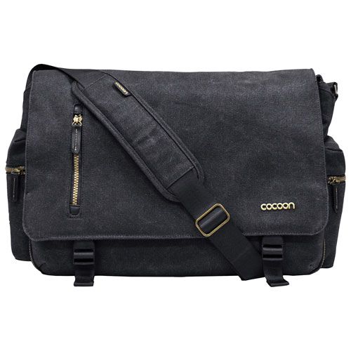 Sac de messager Urban Adventure de Cocoon Innovations pour portable de 16 po - Noir