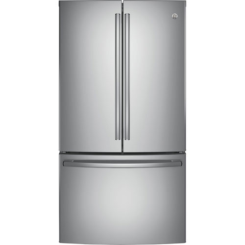 """GE 36"""" 28.5 Cu. Ft. French Door Refrigerator w/ Ice Dispenser & Water Filter - Stainless Steel"""
