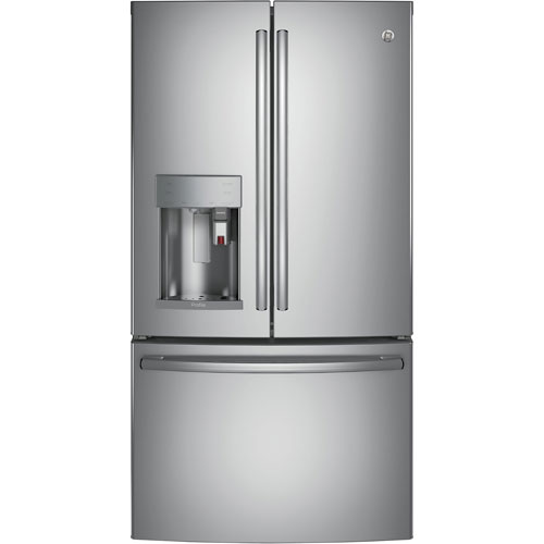 "GE 36"" 27.7 Cu.Ft. French Door Refrigerator with Built-In Keurig K-Cup Brewing System (PFE28PSKSS)"