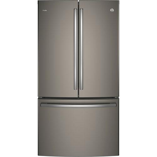 Réfrigérateur à profondeur de comptoir à 2 portes de 23,1 pi3 36 po de GE (PWE23KMKES) - Ardoise