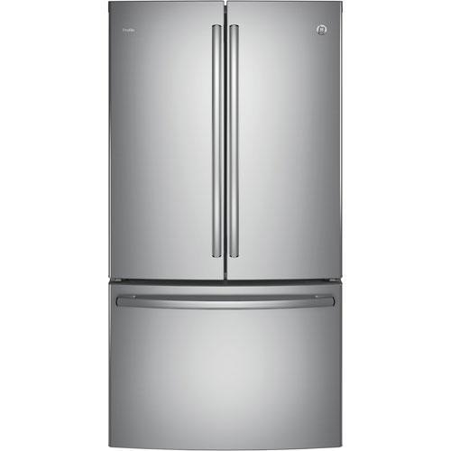 "GE 36"" 23.1 Cu.Ft. French Door Counter Depth Refrigerator (PWE23KSKSS) - Stainless Steel"