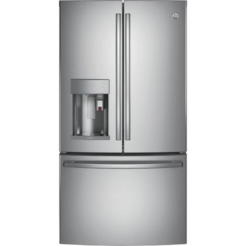 "GE 36"" 22.1 Cu.Ft. French Door Refrigerator w/ Built-In Keurig K-Cup Brewing System -Stainless Steel"