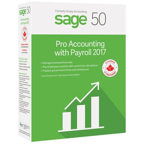 Sage 50 Pro Accounting with Payroll 2017 (PC)