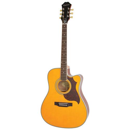Guitare électroacoustique FT-350SCE Min-ETune d'Epiphone (EEATANNH1) - Naturel antique