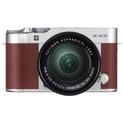 Fujifilm X-A3 Mirrorless Camera with 16-50mm Lens Kit - Brown