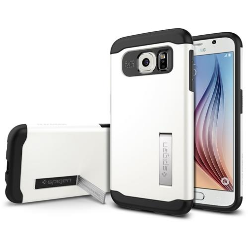 Spigen Slim Armor Case for Samsung Galaxy S6 - Shimmery White