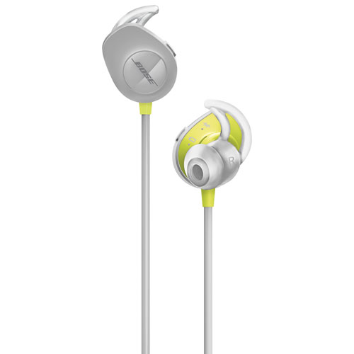 bose bluetooth earbuds. bose soundsport wireless bluetooth in-ear headphones - citron/grey earbuds