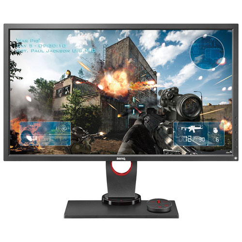 "BenQ Zowie 27"" eSports Tournaments WQHD 144HZ 1ms GTG TN LED Gaming Monitor with S-Switch (XL2730) - Black/Red"