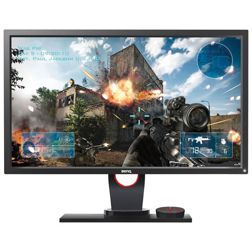 "BenQ Zowie 24"" eSports Tournaments FHD 144HZ 1ms GTG TN LED Gaming Monitor with S-Switch (XL2430) - Black/Red"