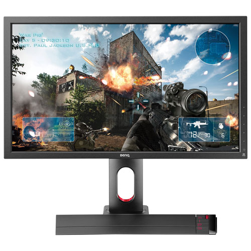 """BenQ Zowie 27"""" eSports Tournaments FHD 144HZ 1ms GTG TN LED Gaming Monitor with S-Switch (XL2720) - Black/Red"""