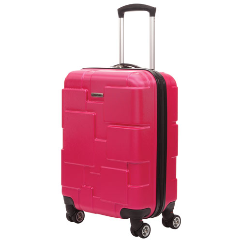 "Samsonite Pinsky 21.5"" Hard Side 4-Wheeled Carry-On Luggage - Pink"