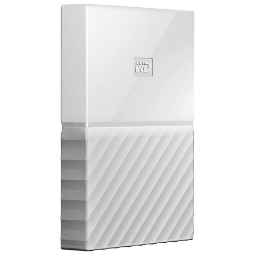 WD My Passport 1TB 2.5 USB 3.0 Portable External Hard Drive (WDBYNN0010BWT-WESN) - White