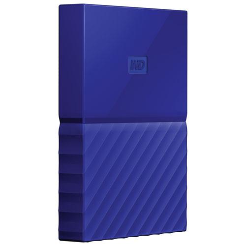 WD My Passport 3TB 2.5 USB 3.0 Portable External Hard Drive (WDBYFT0030BBL-WESN) - Blue